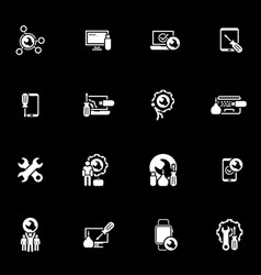 Repair service and maintenance icons set vector