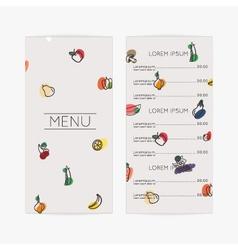 Restaurant menu Flat design vector image