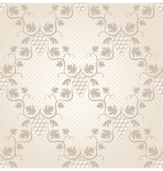 seamless grape pattern vector image