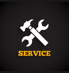 Service icon with long shadow vector