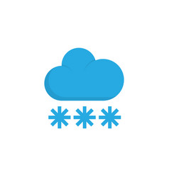 snowy flat icon symbol premium quality isolated vector image vector image
