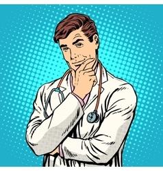 Therapist medicine profession vector