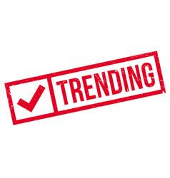Trending rubber stamp vector