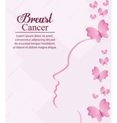 Butterfly head breast cancer design vector
