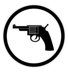 Revolver button on white vector
