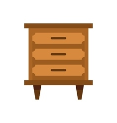 Drawer icon flat style vector