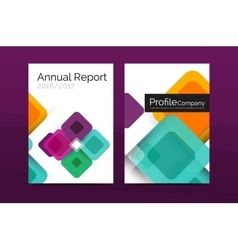 Colorful square business annual report vector