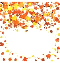 Autumn banner template with blank space for text vector