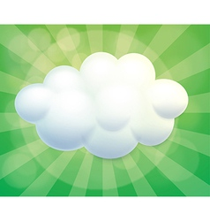 A cloud-designed empty template vector