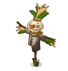scarecrow made of straw and grass with rough face vector image