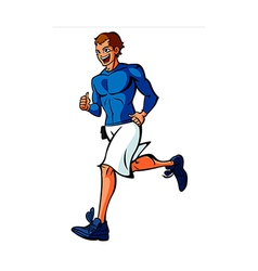 Side view of man running vector