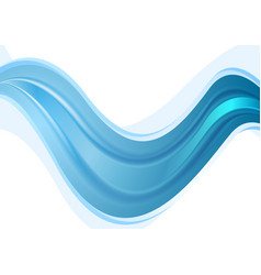 Bright blue abstract smooth waves background vector