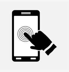 Icon touch screen control technology vector