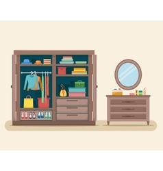 Wardrobe for cloths vector