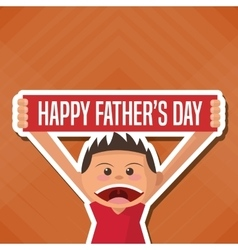 Fathers day concept celebration design greeting vector