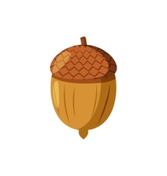 Acorn icon cartoon style vector