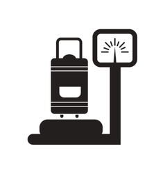 Flat icon in black and white style luggage vector