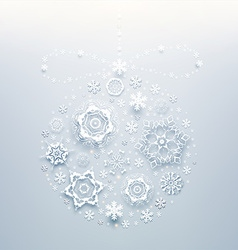 Abstract bauble background vector