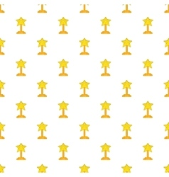 Award star pattern cartoon style vector