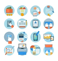 Business office and marketing items icons vector