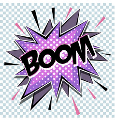 cartoon comic graphic design for explosion vector image