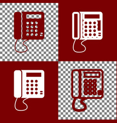 Communication or phone sign bordo and vector