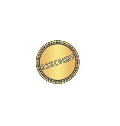 Discount computer symbol vector image