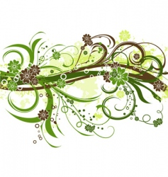 floral grunge background vector vector image vector image