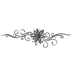 Flower Tribal vector image vector image