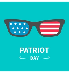 Glasses patriot day flat vector