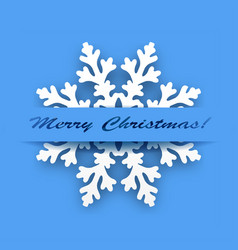 greeting card - winter snowflake vector image