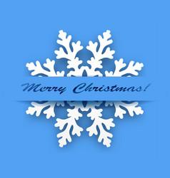 greeting card - winter snowflake vector image vector image