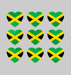 Heart with jamaican flag i love jamaica vector