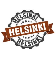 helsinki round ribbon seal vector image