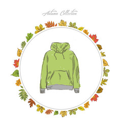 Hoody hand draw clothes vector