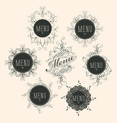 label set for restaurant menu design vector image vector image