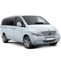 Light passenger van vector