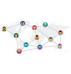 long banner - concept social networking vector image