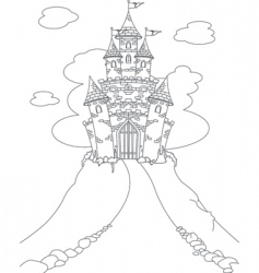 magic castle coloring page vector image vector image