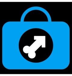 Male erection case icon vector