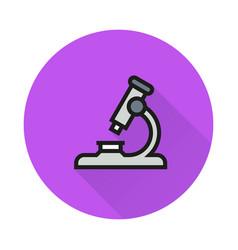 microscope icon on round background vector image