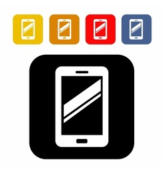 Mobile icon vector