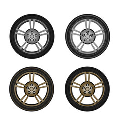 photo-realistic wheel vector image