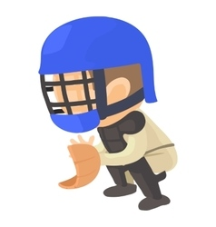 Protecting player icon cartoon style vector