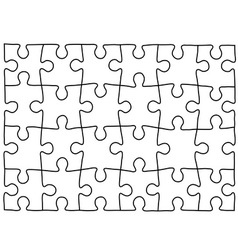 Puzzle template Background for your business vector image vector image