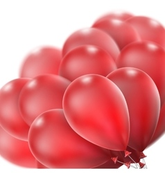 Red glossy balloons EPS 10 vector image vector image