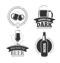 Retro beer goods emblems labels badges vector