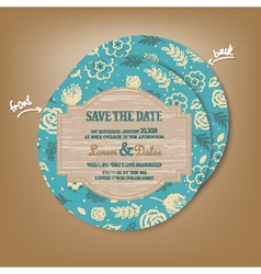 Save the date round vector