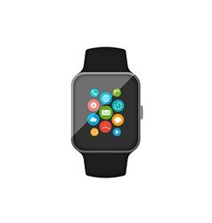 Smart watch flat design vector image