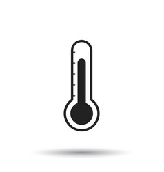 Thermometer icon goal flat isolated on white vector